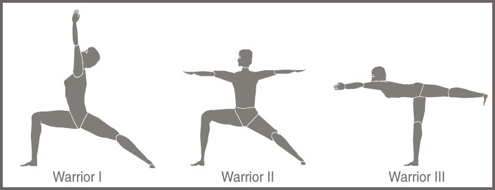 A Representation of Warrior Yoga Poses