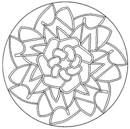 Mandala Coloring Meditation 2 | 2nd Star To The Right Yoga Blog
