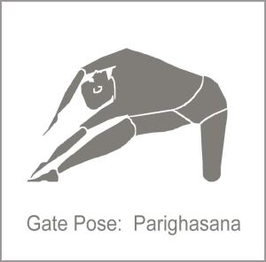 gate pose, Parighasana